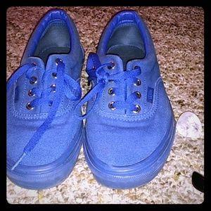 Vans Shoes - Blue on blue vans